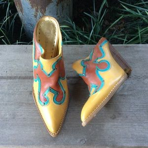 BCBGirls point toe western mules